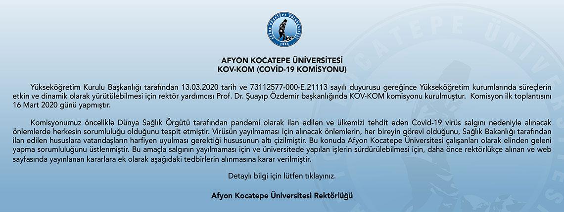 KOV-KOM (COVİD-19 KOMİSYONU)