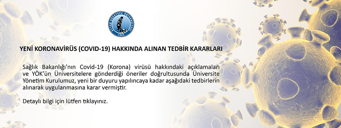 Yeni Koronavirüs (COVID-19) Hakkında Alınan Tedbir Kararları